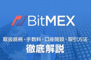 BITMEXの手数料、使い方を解説