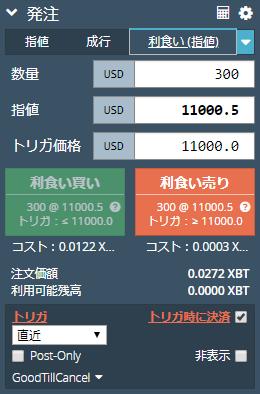 BITMEXのコイン売買のやり方